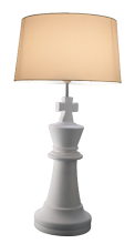 Ceramic Chess-Piece Table Lamp