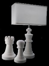 Ceramic Chess-Piece Table Lamp (Set)