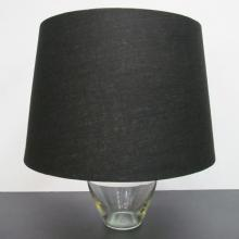 Large Black Linen Tapered Shade